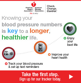 Knowing your health numbers is a key to a longer, healthier life. Track your blood pressure.