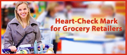 Heart-Check mark for grocery retailers