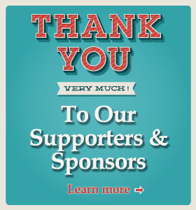 Thank you very much! To our supporters and sponsors. Learn more.