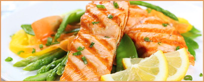 salmon with lemon and green beans